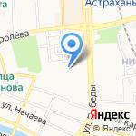 Адем на карте Астрахани