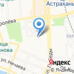 Магазин головных уборов на карте Астрахани