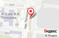 Схема проезда до компании Астраханское стекловолокно в Астрахани
