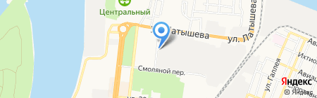 Астраханское стекловолокно на карте Астрахани
