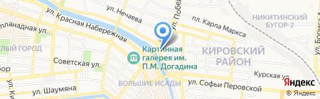 Бульдорс на карте Астрахани