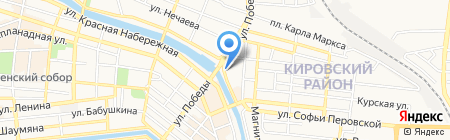 Ленкорань на карте Астрахани