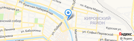 Моринжгеология на карте Астрахани
