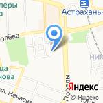 Лотос на карте Астрахани