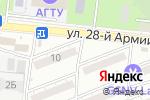 Схема проезда до компании Бэлль в Астрахани