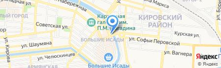 Глобус на карте Астрахани