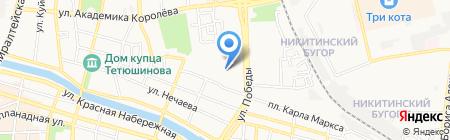 Магазин ковров на ул. Победы на карте Астрахани