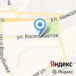 Серебряные ножницы на карте Астрахани