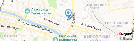 Автомойка на площади Карла Маркса на карте Астрахани