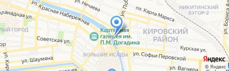 Нептун на карте Астрахани