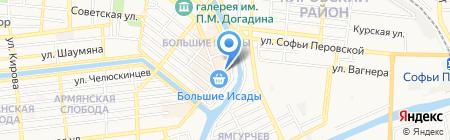 Ковсар на карте Астрахани