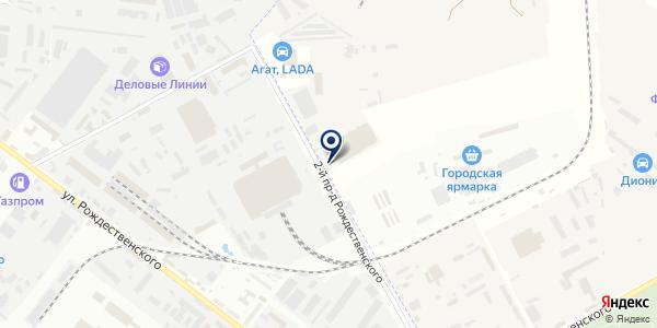 АСТРА-LED на карте Астрахани