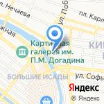 Охотник на карте Астрахани
