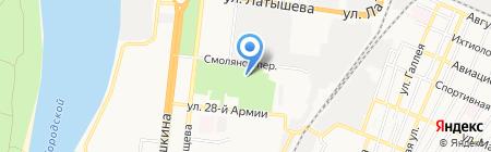 Педант на карте Астрахани