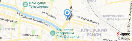 У старого клоуна на карте Астрахани