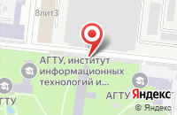 Схема проезда до компании Art print в Астрахани