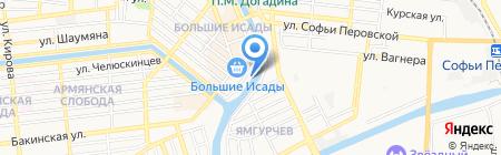 Полинка на карте Астрахани