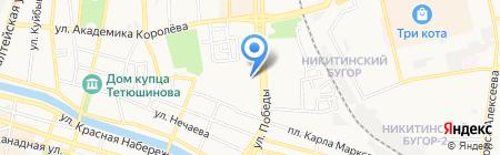 Кировский на карте Астрахани