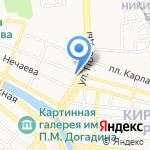 Цифра на карте Астрахани