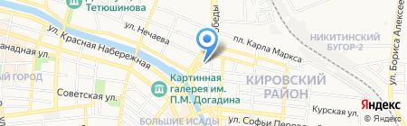 Дворец свадебной и вечерней моды на карте Астрахани