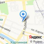 Сковородкино на карте Астрахани