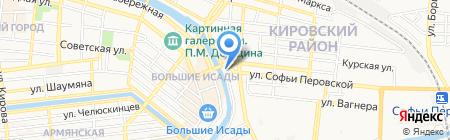 Большие Исады на карте Астрахани