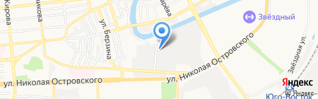 Золотой джин на карте Астрахани