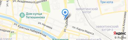 2+2 на карте Астрахани
