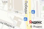 Схема проезда до компании 5х5 в Астрахани
