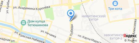 Школьник на карте Астрахани