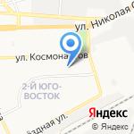 Библиотека №13 на карте Астрахани