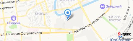 Золотой эльф на карте Астрахани