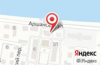 Схема проезда до компании Лазурный в Астрахани