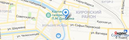 Капитошка на карте Астрахани