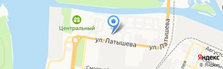 КВАТРО на карте Астрахани