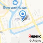 Водолей на карте Астрахани