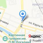 Электроник Сити на карте Астрахани