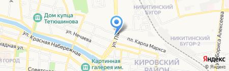 Рейс-тур на карте Астрахани