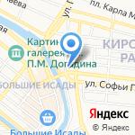 Каменный рай на карте Астрахани