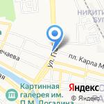 ЮГ-А на карте Астрахани