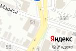 Схема проезда до компании Позитроника в Астрахани