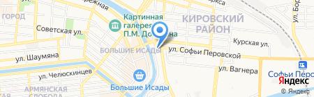 Mustang на карте Астрахани