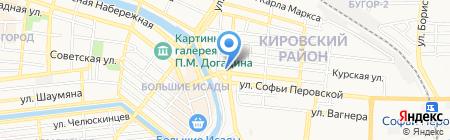 СотЛайн на карте Астрахани