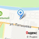 Лазурный на карте Астрахани