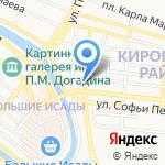 Азбар на карте Астрахани