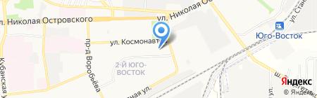 Пивной ряд на карте Астрахани