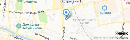 На Победе на карте Астрахани