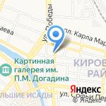 Аквапром на карте Астрахани