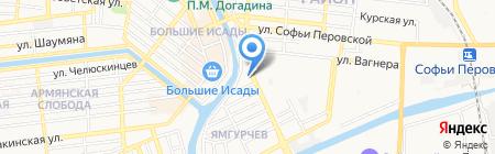 ЗаЖим на карте Астрахани