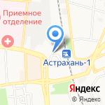 Ахтамар на карте Астрахани